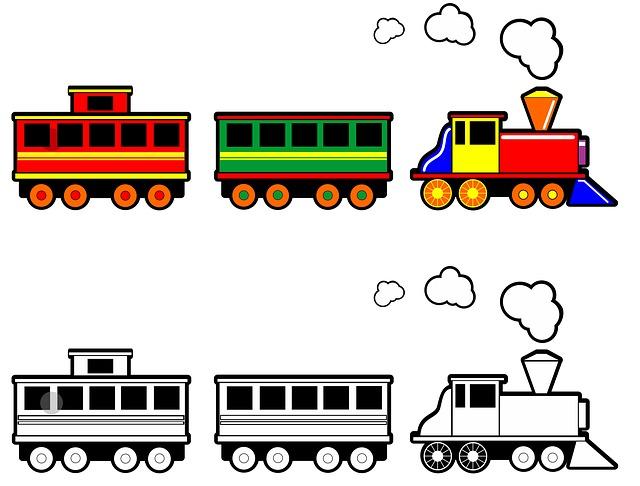 Ilustrace-vláček s vagónem